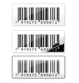barcode sticker vector image