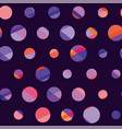 concept modern polka dot seamless pattern surface vector image