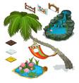 elements of decorating landscape island theme vector image
