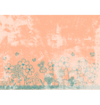Grunge Peach Floral Background vector image