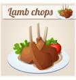 Lamb chops Detailed Icon vector image