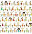 Mums and Kids Pattern vector image