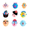 set of different characters vector image