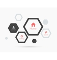 Site template with hexagons Flat design vector image