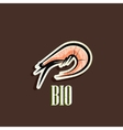 vintage with a shrimp vector image