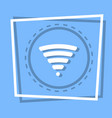 wifi icon wireless internet connection web button vector image