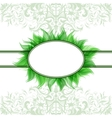 Abstract romantic background with green frame vector image vector image