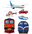 different types of transportation vector image