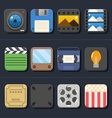 High Quality Video Movie Icon Set vector image