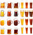 light and dark beer vector image vector image