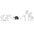 images of elephants on a rope vector image