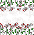 Border with abstract floral branches vector image
