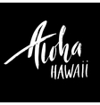 Conceptual hand drawn phrase Aloha Lettering vector image