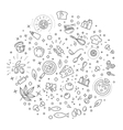 Cooking concept outline design vector image