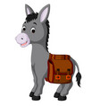 donkey carries a bag vector image
