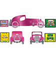 elegant ancient car vector image