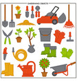 gardening objects set composed of convenient metal vector image