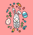 happy easter rabbit vector image