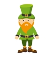 leprechhaun irish hat beard green costume vector image