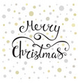 merry christmas calligraphy greeting card vector image
