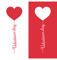 valentines day balloon lettering holiday abstract vector image