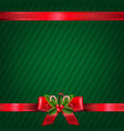 vintage green christmas wallpaper vector image