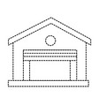warehouse building isolated icon vector image