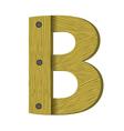 wood letter B vector image