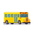 yellow school bus on white background vector image