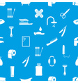 hygiene theme icons modern simple blue and white vector image