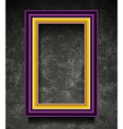 Fachion Picture Frame on Grunge Wall vector image vector image