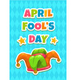 april fools day greeting card template vector image