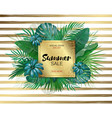 sale round summer sale tropical leaves frame on vector image