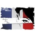 Paris vintage grunge poster vector image