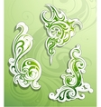 Floral ornaments as design elements vector image