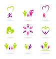 family and people icons vector image vector image