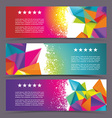 Set of modern banners with polygonal background vector image