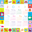 2013 calendar for kids vector