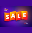 colorful for promotions sales vector image