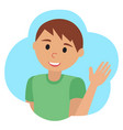 drawing of icon man in the cloud waving vector image