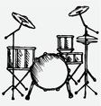 Drums vector image