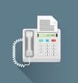 flat style office fax phone icon vector image