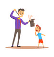 magician pulling out a rabbit from his top hat vector image