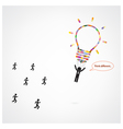 Think different stand out from crowd vector image