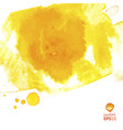 yellow watercolor splash abstract vector image