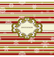 frame on Christmas seamless pattern vector image