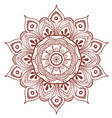 decorative floral round mandala vector image