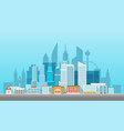 modern cityscape office builngs houses and vector image vector image