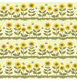 Cute sunflowers vector image