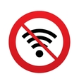 No Wifi sign Wi-fi symbol Wireless Network vector image